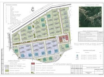 Генеральный план коттеджного поселка, площадь 7,5 га (Бахчисарайский р-н)