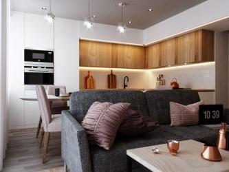 Дизайн-проект трехкомнатной квартиры ул. Олешева, 5