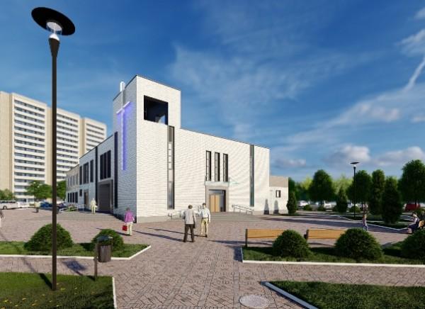 Разработка цветовых решений фасадов костела в г. Витебск