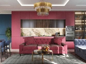 Дизайн интерьера 3-комнатной квартиры в стиле ардеко Palma126