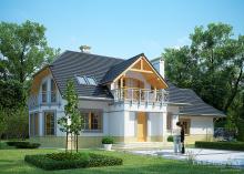 Проект дома LK&1107 с мансардой