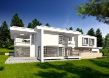 Проект коттеджа LK&1052 двухэтажного