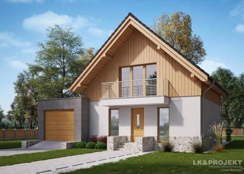 Проект дома LK&1183 с мансардой и гаражом