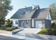 Проект дома LK&1212 с мансардой и гаражом