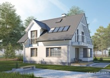 Проект дома LK&1213 с мансардой