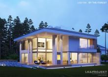 Проект LK&1164 двухэтажного дома из блоков Porotherm