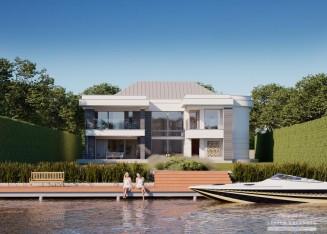 Современные проекты домов в стиле модерн, хай-тек Небольшой Дом в Стиле Хай Тек