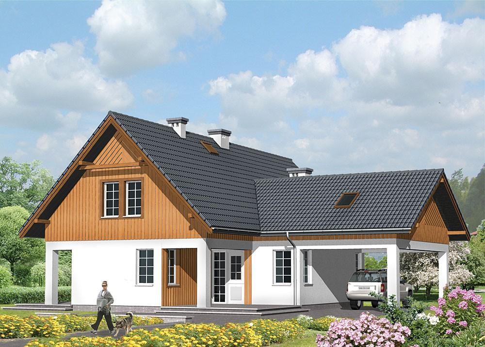 фото проекты угловых домов с мансардой поднятии