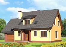 Проект дома LK&572 с мансардой и гаражом
