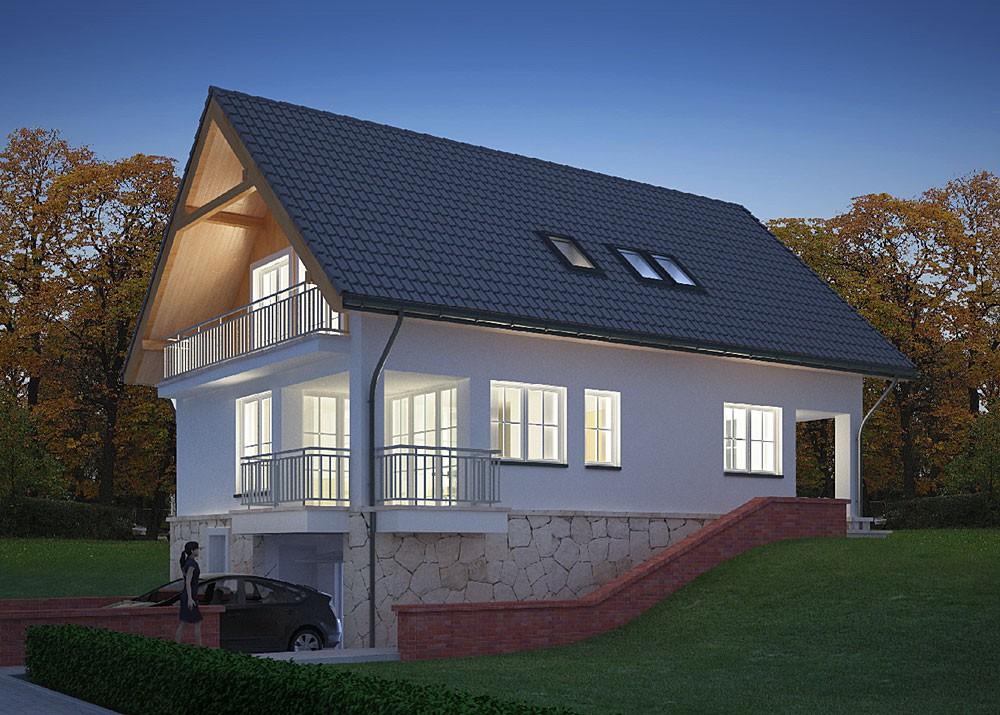 Каркасный дом с цокольным этажом проекты фото