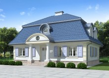 Проект дома LK&617 с мансардой и подвалом