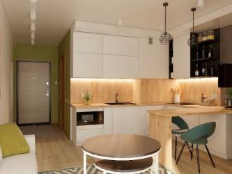 Дизайн интерьера 1-комнатной квартиры RIO 127