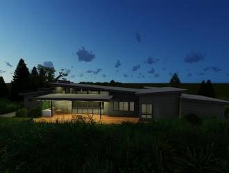 Проектирование одноэтажного деревянного каркасного дома в д. Корабли (Воложинский район)