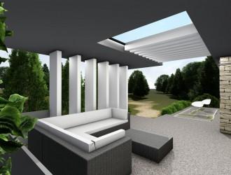 Проект двухэтажного коттеджа в стиле модерн для заказчика из г. Минск