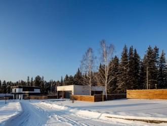 Проектирование коттеджного поселка (6 проектов) для заказчиков из г. Томск (реализовано)