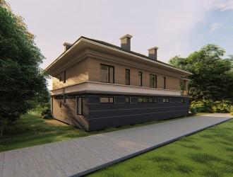 Проект двухэтажного коттеджа в соответствии с канонами Васту для заказчика из г. Киев