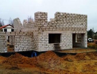 Строительство дома из газосиликатных блоков в пос. Колодищи