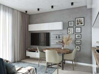 Дизайн интерьера 2-комнатной квартиры в ЖК Рио-де-Жанейро (Минск Мир)