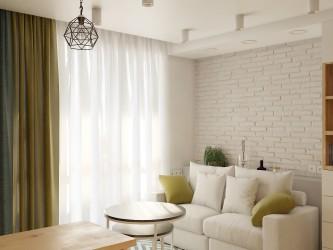 Дизайн интерьера 1-комнатной квартиры в ЖК Рио-де-Жанейро (Минск Мир)