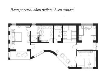 Дизайн 2-этажного коттеджа в стиле кантри ROSTOV 344