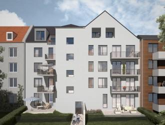 Проектирование экстерьера, разработка 3D планов многоквартирного жилого дома в г. Эссен (Германия)