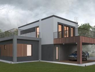 Разработка цветового решения фасадов, дизайн экстерьера в поселке Щитомиричи
