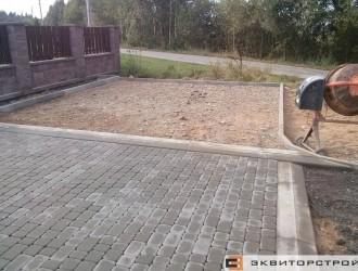 Укладка тротуарной плитки в д. Атолино