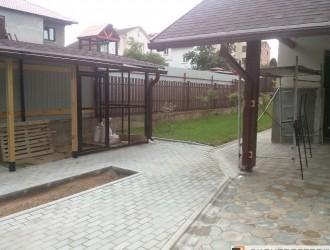 Благоустройство, укладка тротуарной плитки в поселке Цна