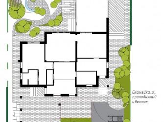 Эскиз к проекту ландшафтного дизайна г. Краснодар