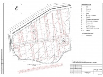 Генеральный план коттеджного поселка, площадь 7,5 га (Бахчисарайский район)