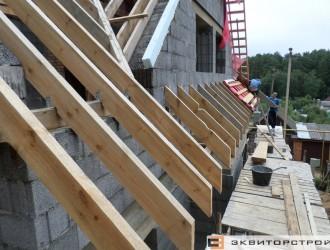 Строительство коттеджа с мансардой и цоколем в поселке Криничный