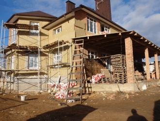 Строительство дома в поселке Новинки