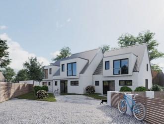 Проектирование экстерьера, разработка 3D планов 3-квартирного таунхауза в г. Уттенройт (Германия)