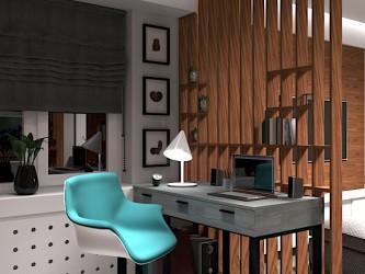 Дизайн интерьера двухкомнатной квартиры в Минске, ул. Пушкина, 71