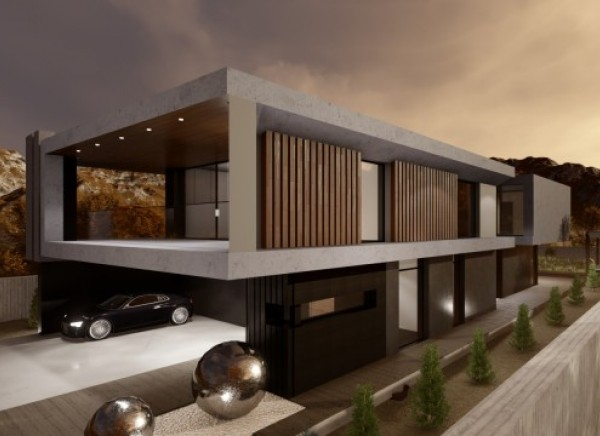 Проект двухэтажного коттеджа в современном стиле для заказчика из г. Стокгольм (Швеция)