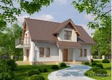 Проект мансардного дома LK&1071 из блоков Porotherm