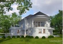 Проект дома LK&1103 в стиле арт-деко