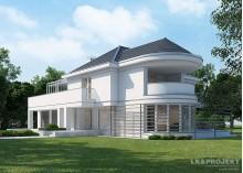 Проект дома LK&1114 в стиле арт-деко