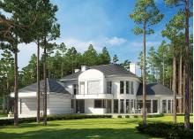 Проект коттеджа LK&1012 двухэтажного в стиле арт-деко