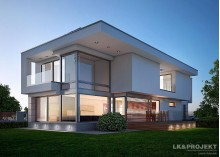 Проект коттеджа LK&1137 в стиле модерн