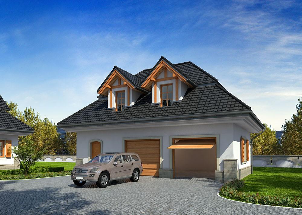 Проекты красивых гаражей с мансардой фото