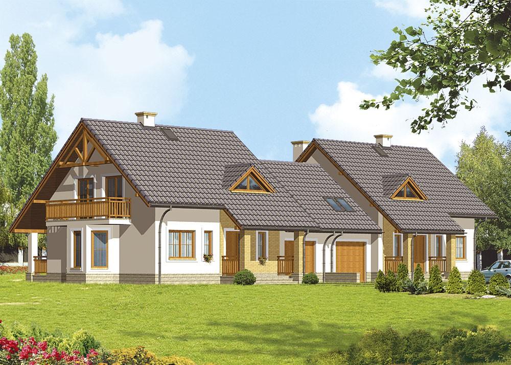 лесом небольшой двухквартирный дом из блоков фото немецком пригороде под